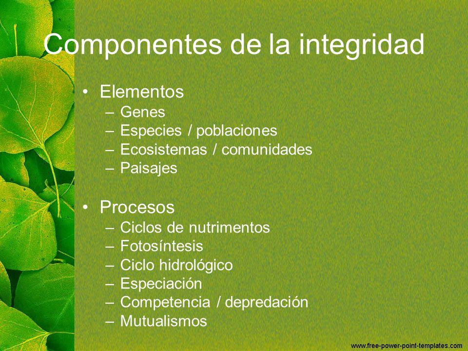 Componentes de la integridad