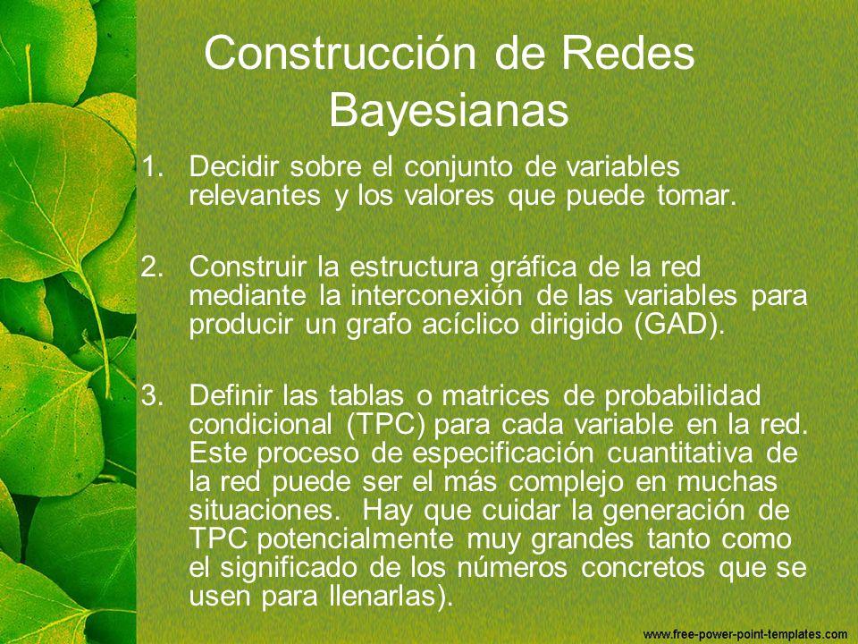 Construcción de Redes Bayesianas