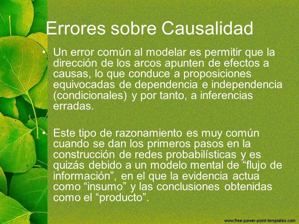 Errores sobre Causalidad