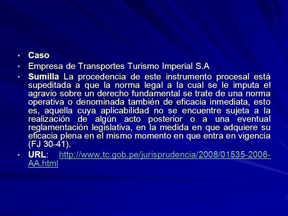 Caso Empresa de Transportes Turismo Imperial S.A.