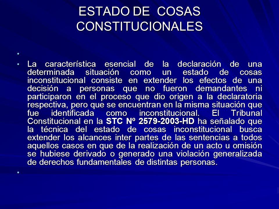 ESTADO DE COSAS CONSTITUCIONALES