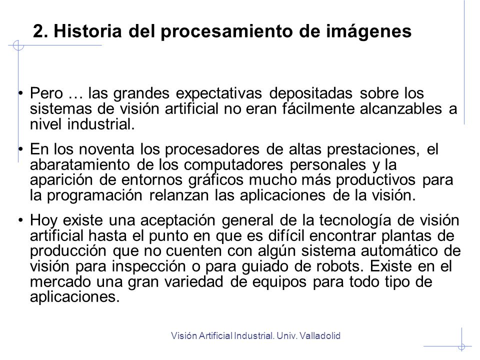 2. Historia del procesamiento de imágenes