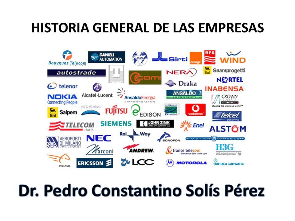 HISTORIA GENERAL DE LAS EMPRESAS