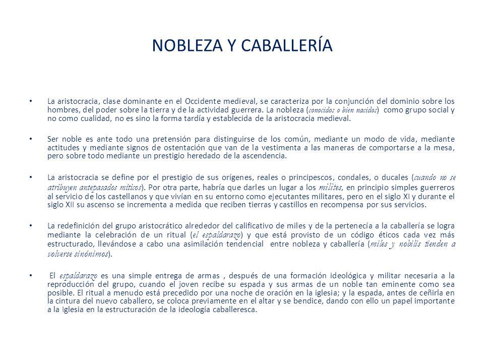 NOBLEZA Y CABALLERÍA