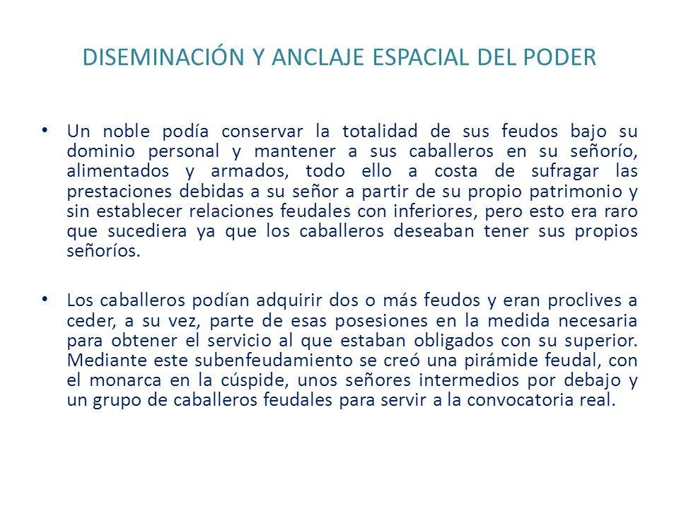 DISEMINACIÓN Y ANCLAJE ESPACIAL DEL PODER