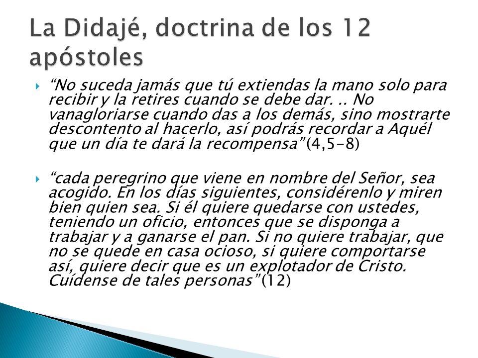 La Didajé, doctrina de los 12 apóstoles