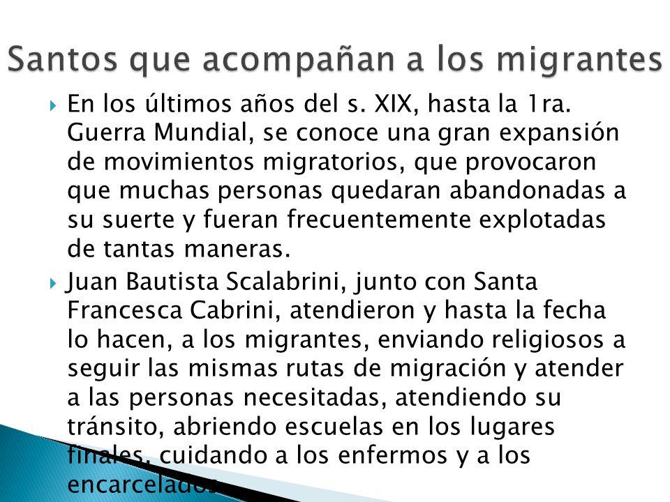 Santos que acompañan a los migrantes