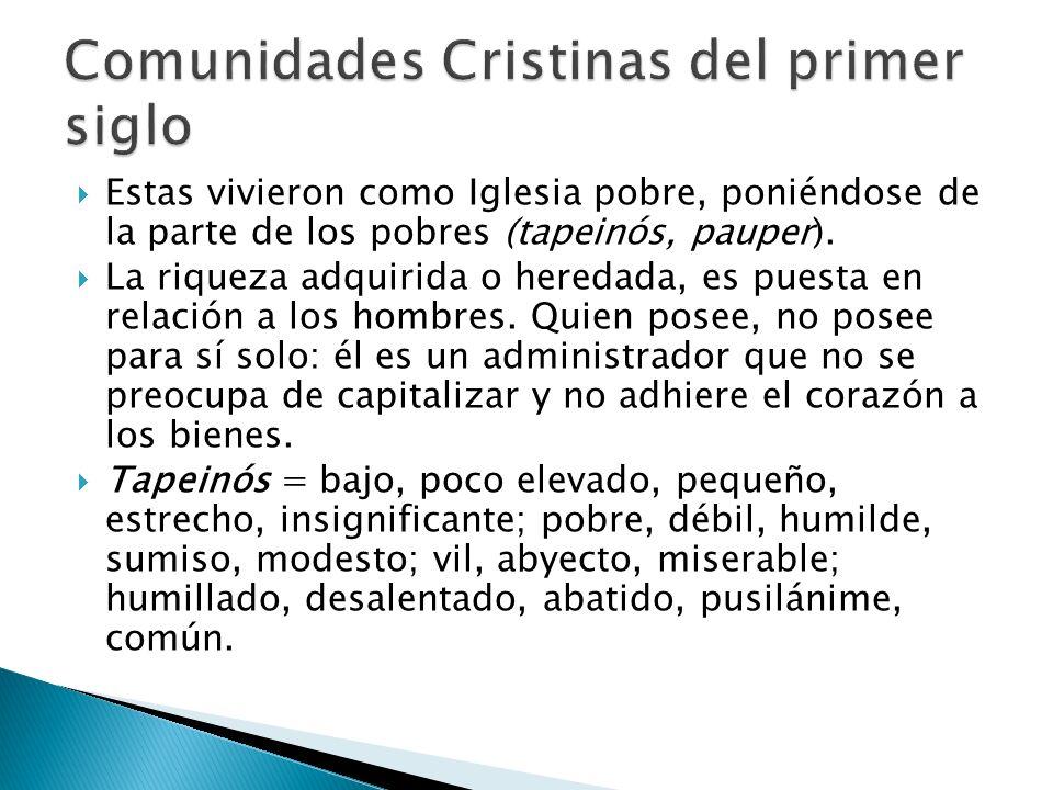 Comunidades Cristinas del primer siglo
