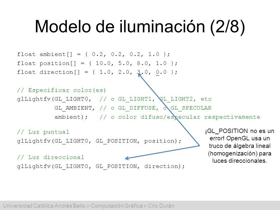 Modelo de iluminación (2/8)