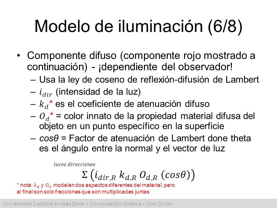 Modelo de iluminación (6/8)