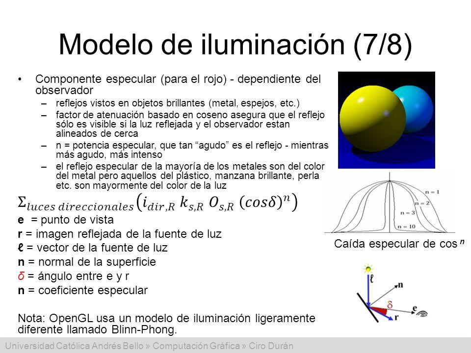 Modelo de iluminación (7/8)