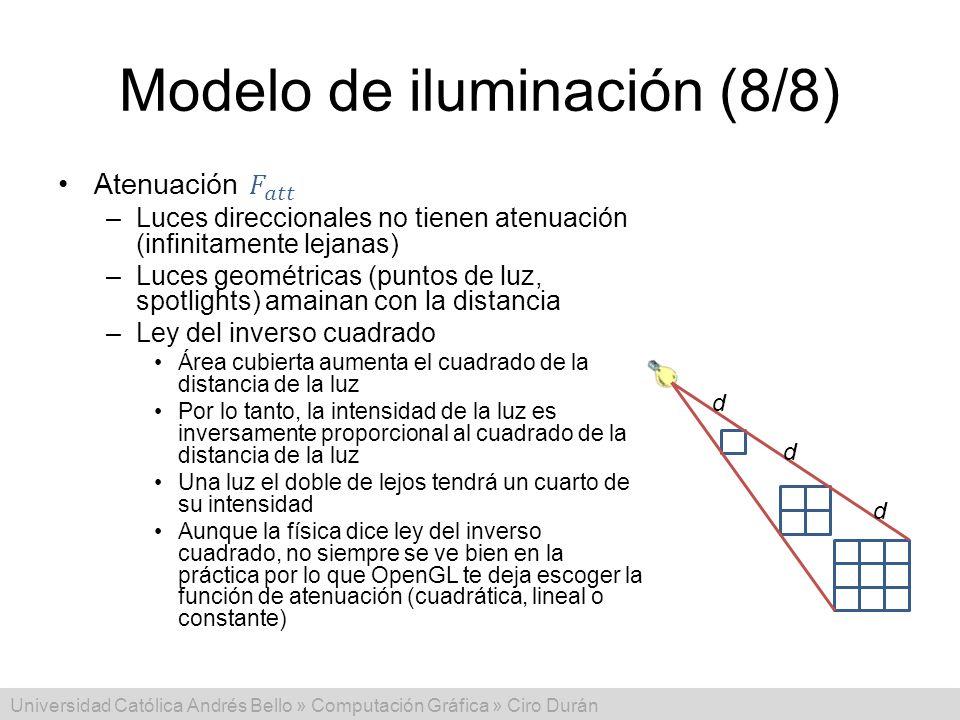 Modelo de iluminación (8/8)