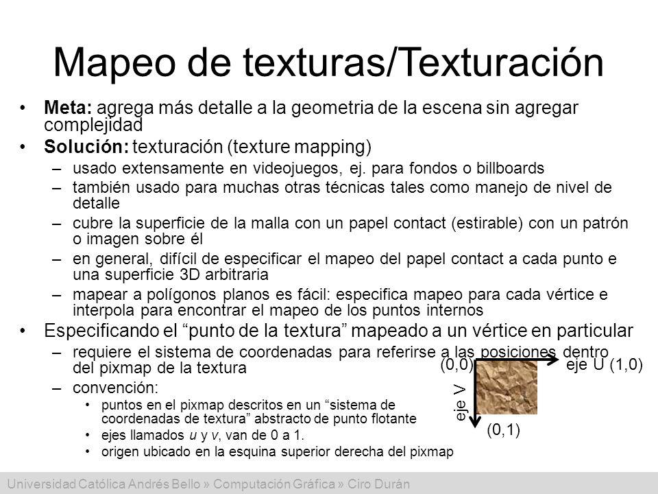 Mapeo de texturas/Texturación