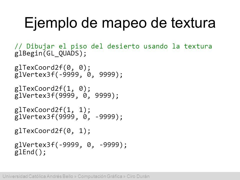 Ejemplo de mapeo de textura