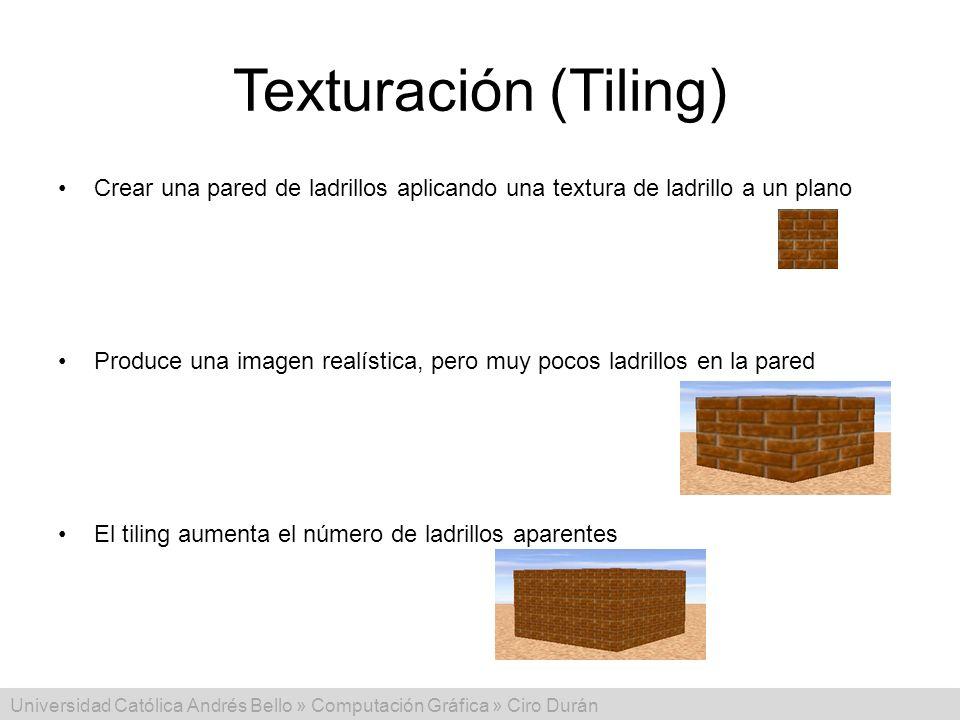 Texturación (Tiling) Crear una pared de ladrillos aplicando una textura de ladrillo a un plano.