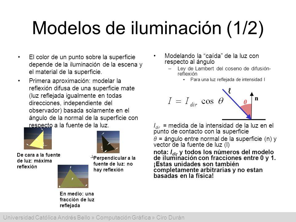 Modelos de iluminación (1/2)