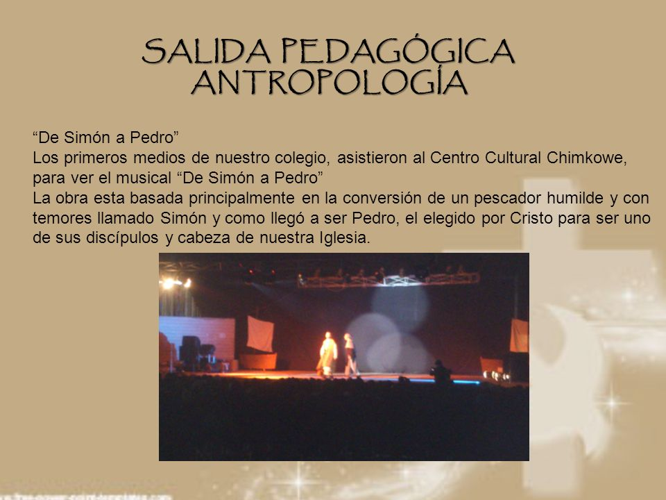 SALIDA PEDAGÓGICA ANTROPOLOGÍA