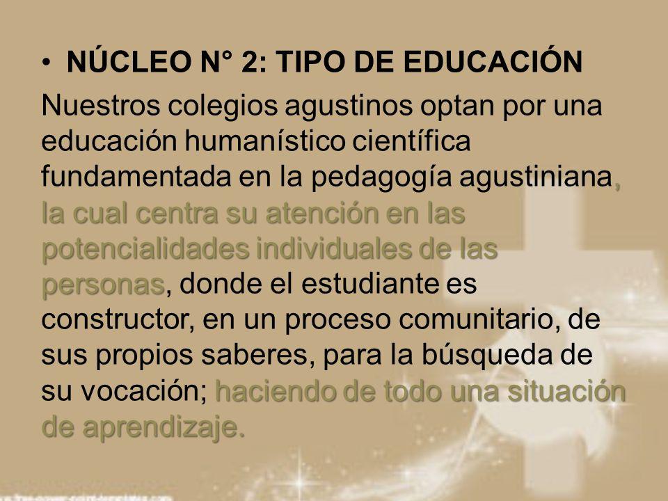 NÚCLEO N° 2: TIPO DE EDUCACIÓN