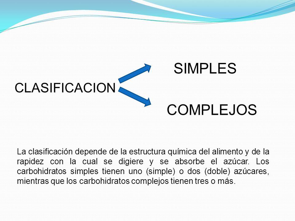 SIMPLES COMPLEJOS CLASIFICACION