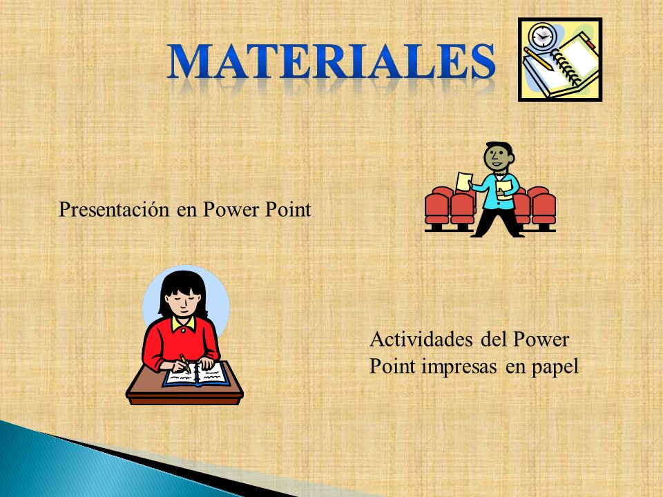 MAteriales Presentación en Power Point