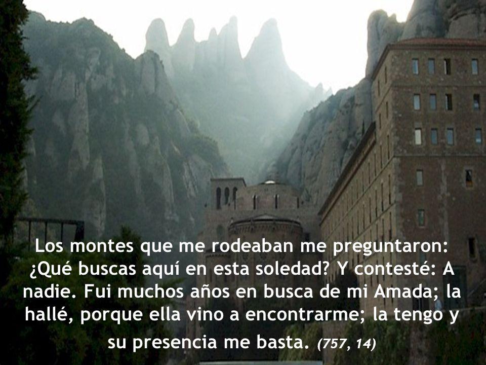 Los montes que me rodeaban me preguntaron: ¿Qué buscas aquí en esta soledad.