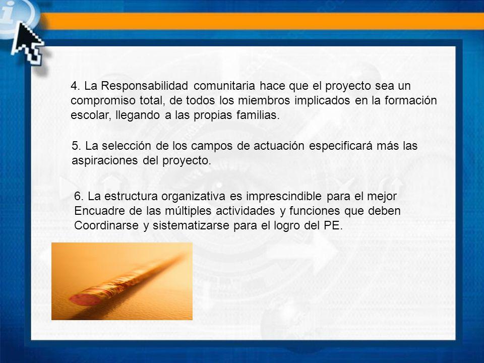 4. La Responsabilidad comunitaria hace que el proyecto sea un