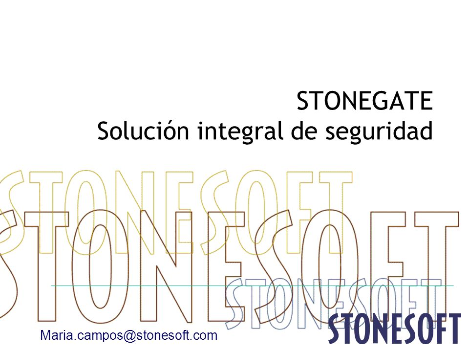 STONEGATE Solución integral de seguridad
