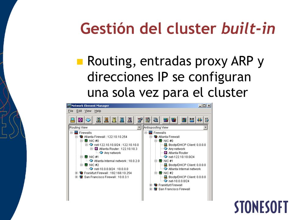 Gestión del cluster built-in