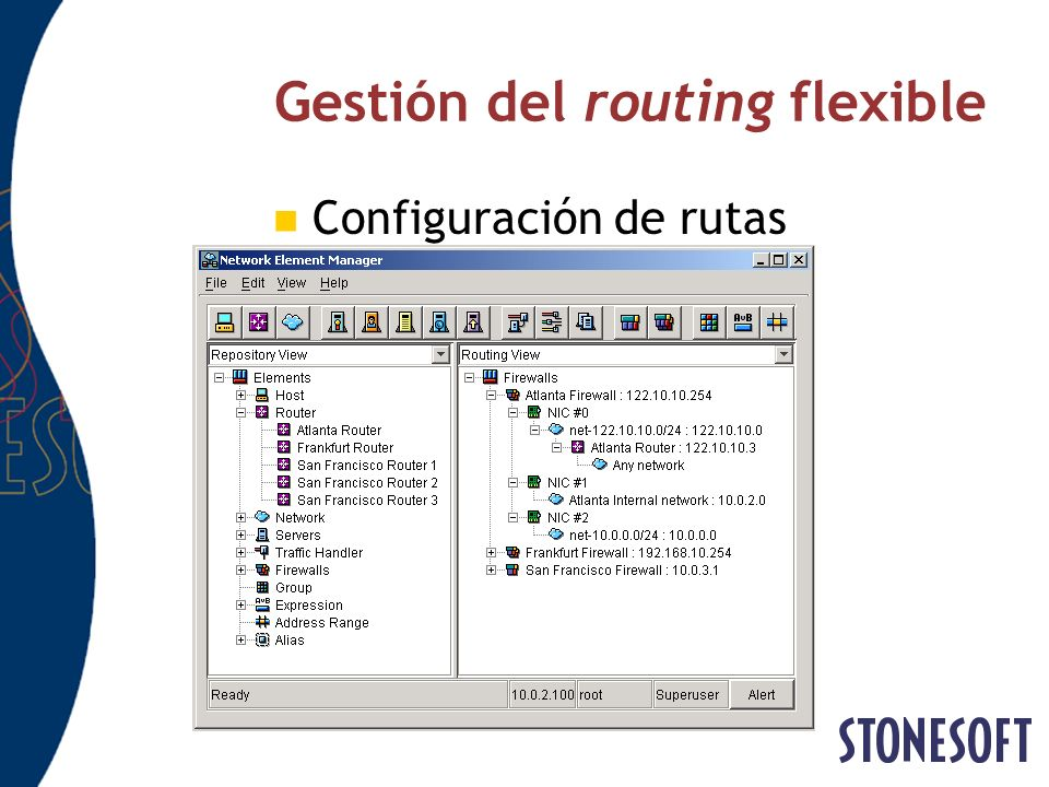 Gestión del routing flexible