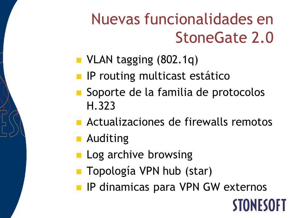 Nuevas funcionalidades en StoneGate 2.0