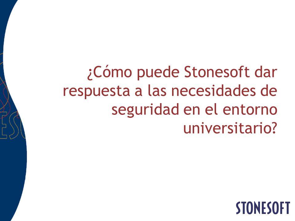 ¿Cómo puede Stonesoft dar respuesta a las necesidades de seguridad en el entorno universitario