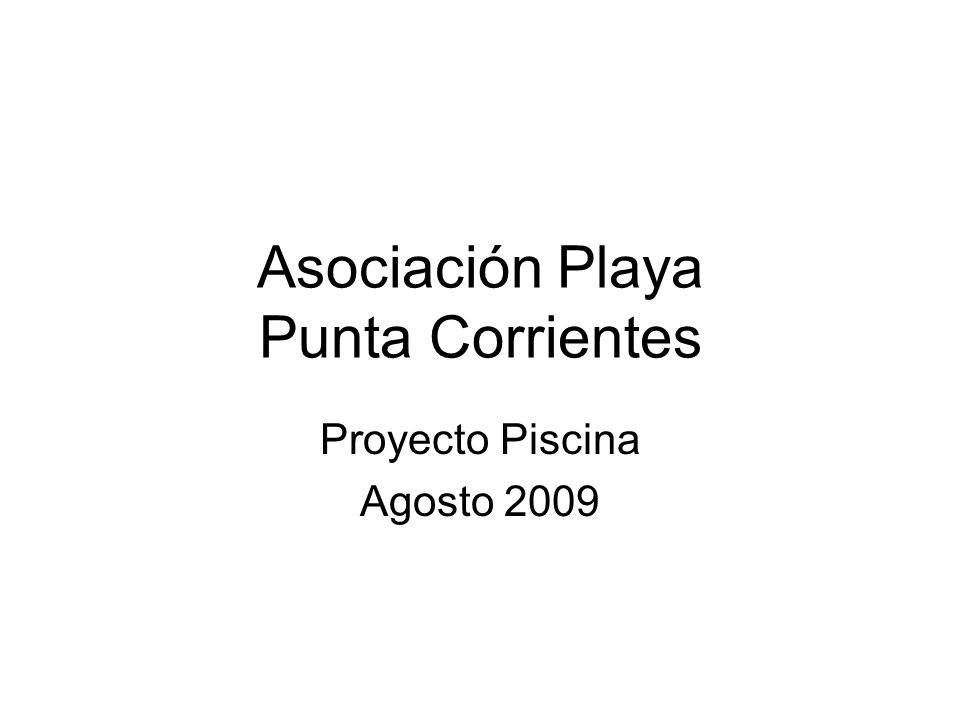Asociación Playa Punta Corrientes