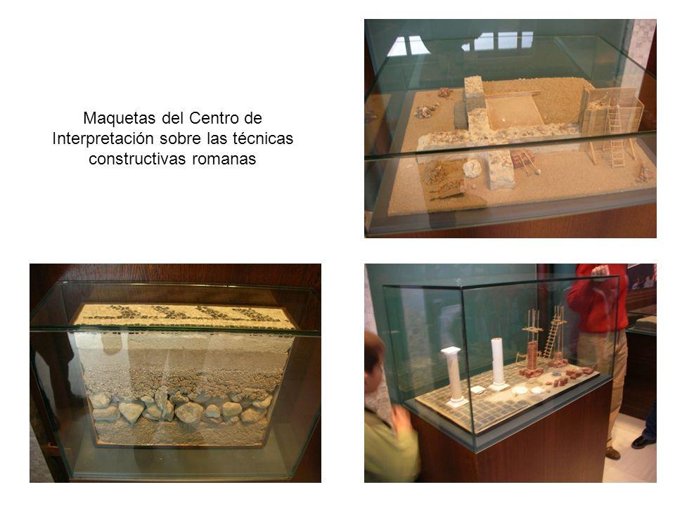 Maquetas del Centro de Interpretación sobre las técnicas constructivas romanas