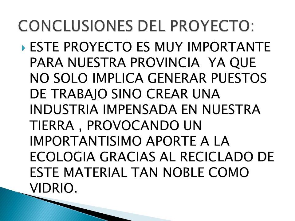 CONCLUSIONES DEL PROYECTO: