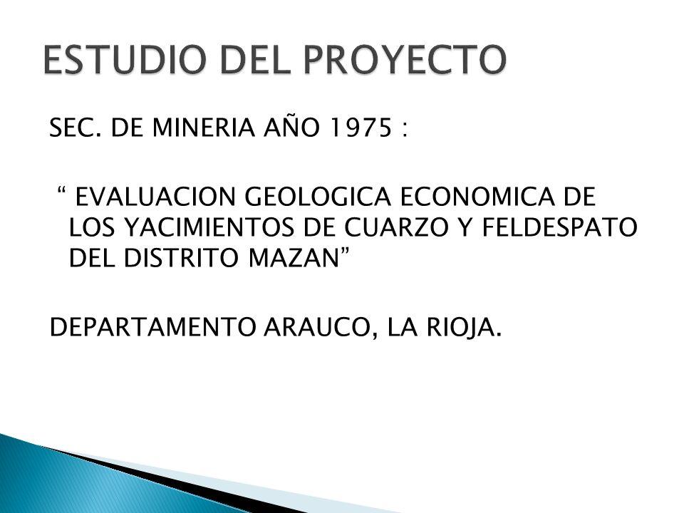ESTUDIO DEL PROYECTO