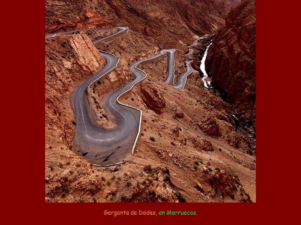 Garganta de Dades, en Marruecos.