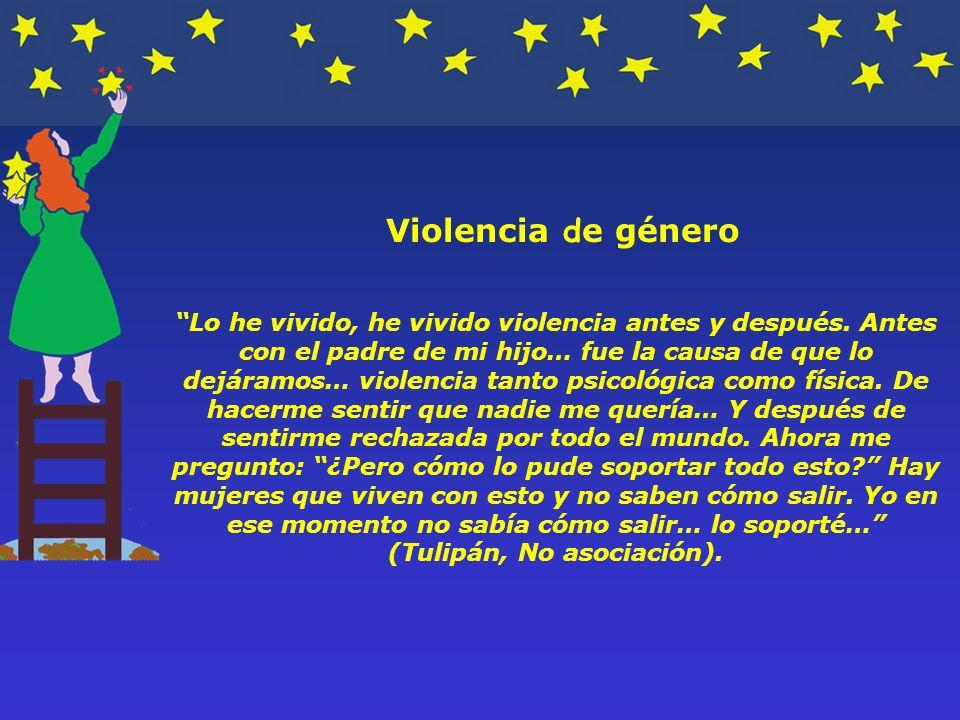 Violencia de género Lo he vivido, he vivido violencia antes y después