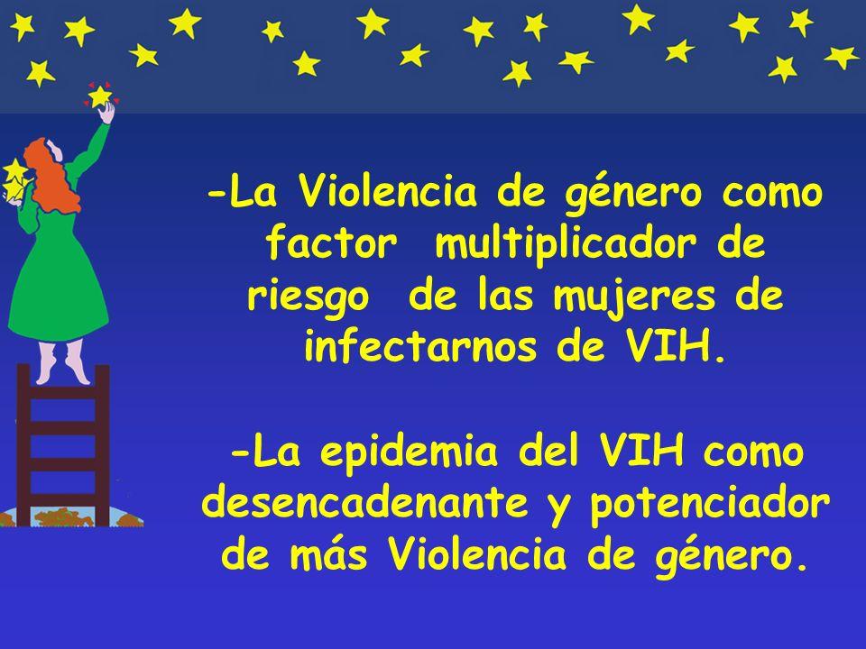-La Violencia de género como factor multiplicador de riesgo de las mujeres de infectarnos de VIH.