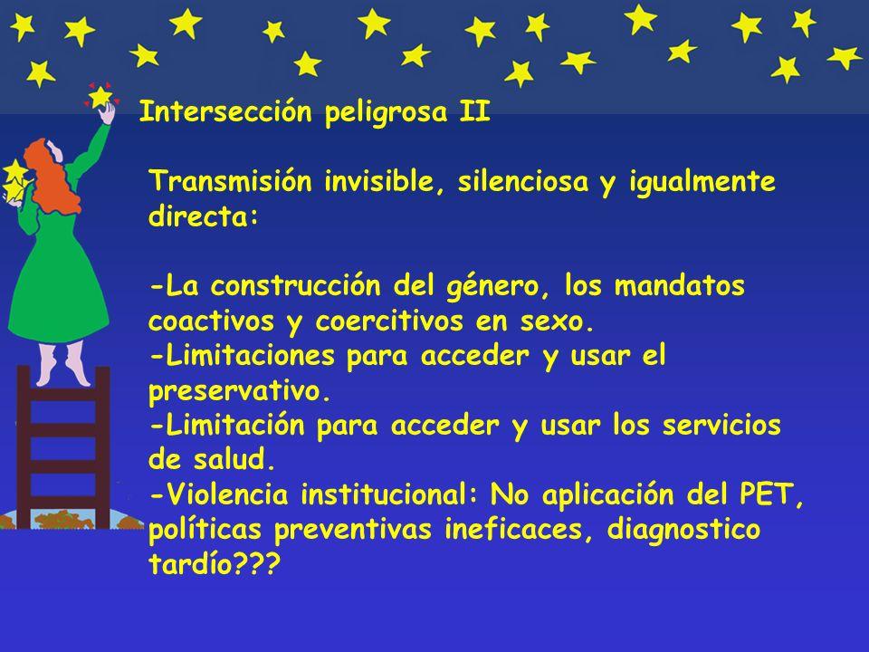 Intersección peligrosa II Transmisión invisible, silenciosa y igualmente directa: -La construcción del género, los mandatos coactivos y coercitivos en sexo.