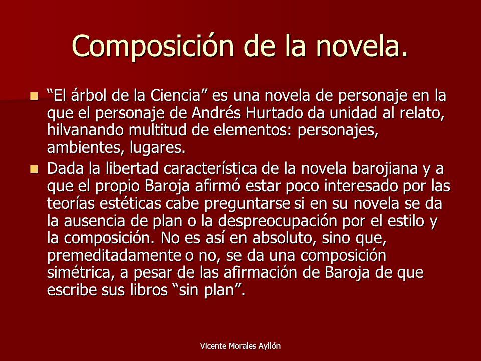 Composición de la novela.