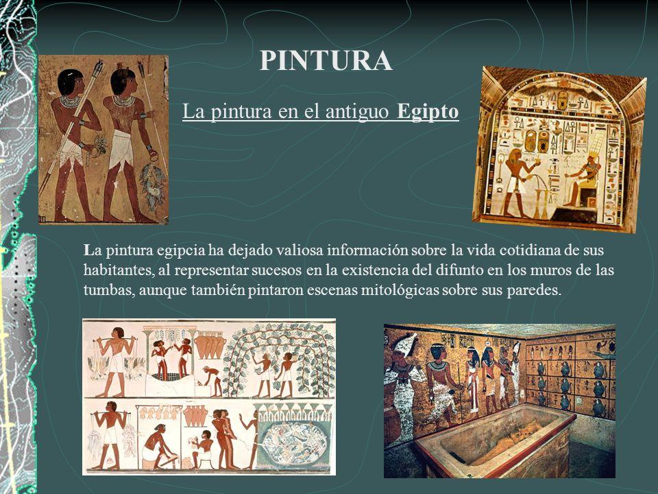 PINTURA La pintura en el antiguo Egipto