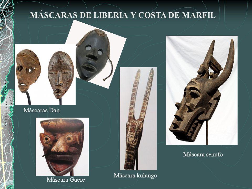 MÁSCARAS DE LIBERIA Y COSTA DE MARFIL