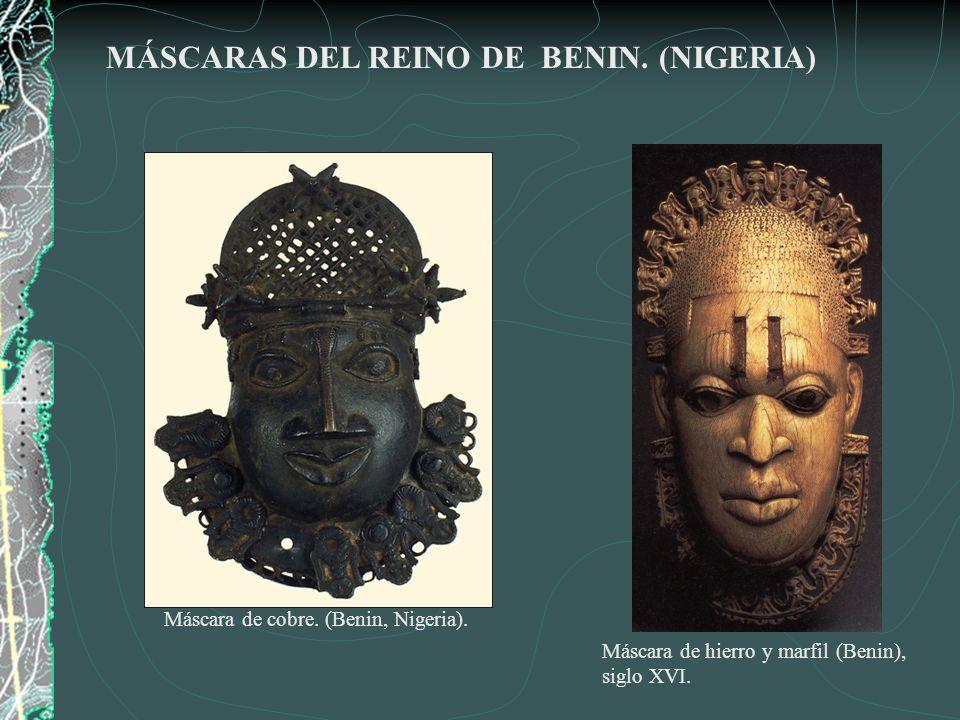 Máscara de cobre. (Benin, Nigeria).