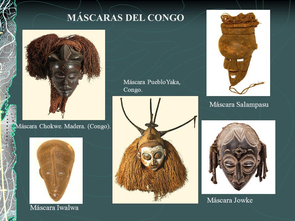 MÁSCARAS DEL CONGO Máscara Salampasu Máscara Jowke Máscara Iwalwa