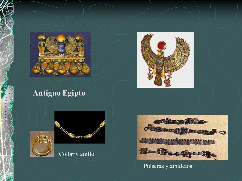 Antiguo Egipto Collar y anillo Pulseras y amuletos