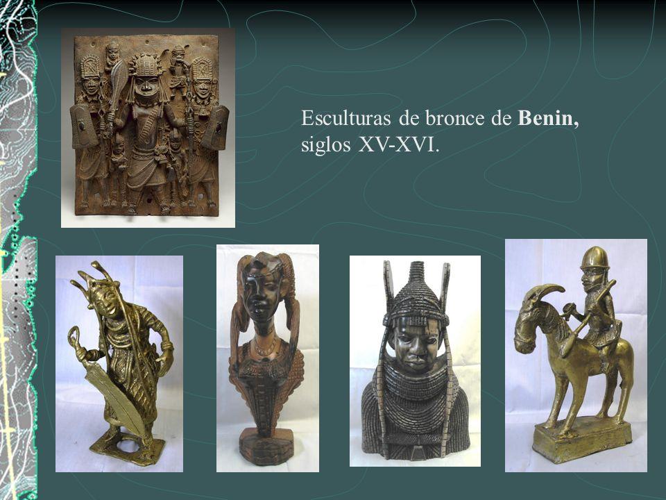 Esculturas de bronce de Benin, siglos XV-XVI.