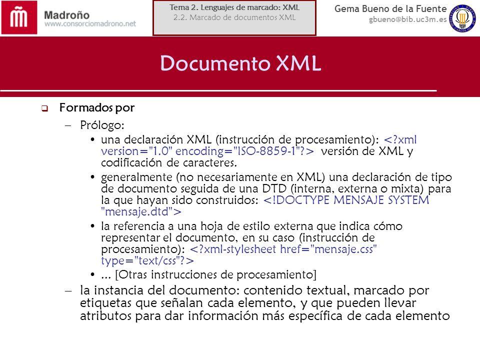 Tema 2. Lenguajes de marcado: XML
