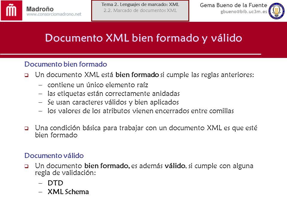 Documento XML bien formado y válido