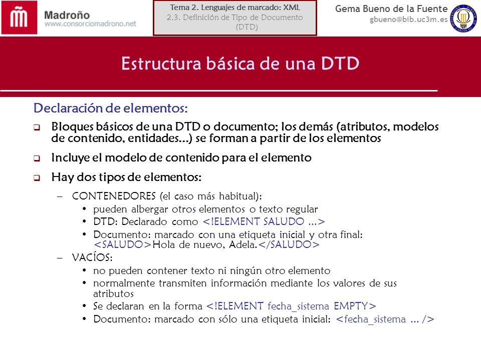 Estructura básica de una DTD