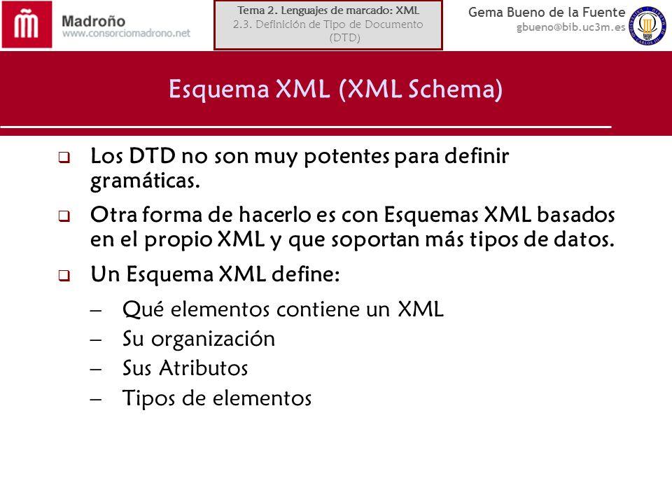 Esquema XML (XML Schema)